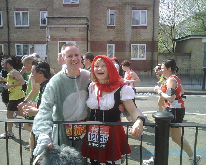 Betty and John Lonergan in the London Marathon